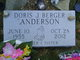Profile photo:  Doris J <I>Berger</I> Anderson