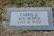 Carrie Mae <I>Evans</I> Wilgus