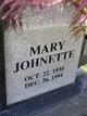 Profile photo:  Mary Johnette Ankenbrandt