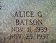 Profile photo:  Alice <I>Gotshaw</I> Batson