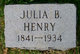 Julia <I>Brown</I> Henry