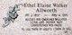 Profile photo:  Ethel Elaine <I>Walker</I> Allworth