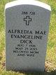 Profile photo:  Alfredia Mae Evangeline Dick