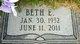 Profile photo:  Beth Emma <I>Stahr</I> Oberton