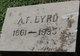 Profile photo:  A. F. Byrd
