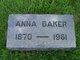 Profile photo:  Anna Baker