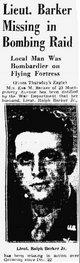 2Lt Ralph Barker, Jr