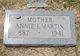 Profile photo:  Annie I. Martin