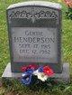 "Profile photo:  Alice Gertrude ""Gertie"" <I>Evans</I> Henderson"