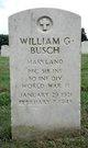 PFC William G Busch