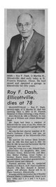 Roy Frank Dash