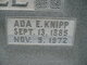Profile photo:  Ada E <I>Knipp</I> Bible