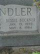 Profile photo:  Bessie Lee <I>Buckner</I> Chandler