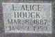 Profile photo:  Alice L. Houck