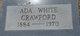 Ada <I>White</I> Crawford