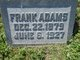 Profile photo:  Frank Adams