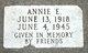 Profile photo:  Annie E. Pulskamp