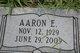 Profile photo:  Aaron E. Sparks