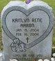 Profile photo:  Kaitlyn Rene Aaron