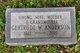 Profile photo:  Gertrude W. <I>Williams</I> Anderson