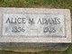 Profile photo:  Alice M. Adams
