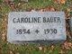 Caroline <I>Dentinger</I> Bauer