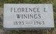 Profile photo:  Florence Esther Winings