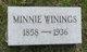 "Profile photo:  Maria Wilhelmine ""Minnie"" <I>Aschermann</I> Winings"