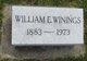 "Profile photo:  William Earnest ""Willie"" Winings"