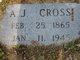 "Profile photo:  Andrew Johnson ""Andy"" Cross"