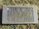 "Alfred ""Allie"" Wade"