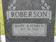 Mary Kathryn <I>Pierce</I> Roberson