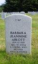 Profile photo:  Barbara Jeannine Ablott