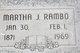 Martha J <I>Gray</I> Rambo