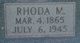 Rhoda Malissa <I>Owens</I> Thompson