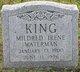 Mildred Irene <I>Waterman</I> King
