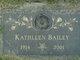 Profile photo:  Kathleen <I>Leep</I> Bailey