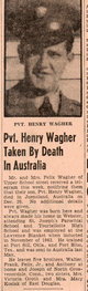 Profile photo: Pvt Henry L Wagher