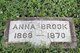 Profile photo:  Anna Brook