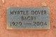 Myrtle <I>Dover</I> Bagby