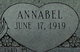 "Profile photo:  Annabel ""Ann"" <I>Shelton</I> Stevens"