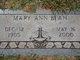 Mary Ann Bean