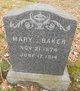 Profile photo:  Mary Baker