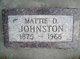 Mattie D. <I>Simpson</I> Johnston