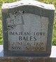 Imajean <I>Lowe</I> Bales
