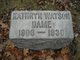 Kathryn <I>Watson</I> Dame