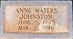 Ann <I>Waters</I> Johnston