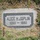 "Profile photo:   Alice "" "" <I> </I> Joplin,"