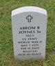 Profile photo:  Abrom B Joynes, Sr