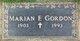 Marian F Gordon